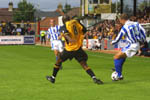 Lee Steele Controls the ball