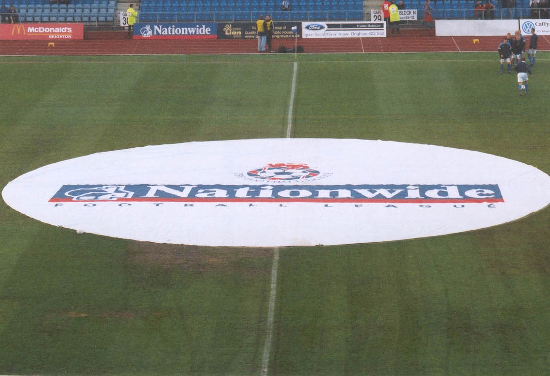 close -up flag on pitch