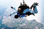 15th july 2002. sky dive from 12000ft above Noosa on the east coast of australia