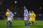 Pethick and Zamora look on is stunned disbelief at Lee Steele